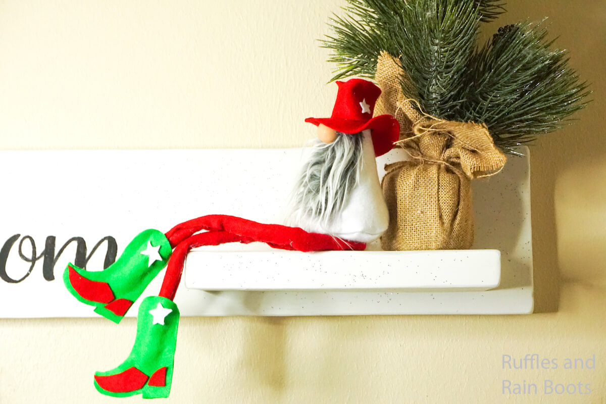 how to make a christmas tomte cowboy