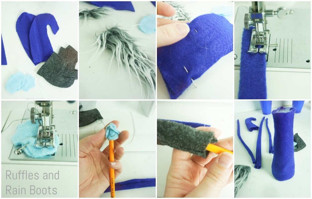photo collage tutorial of how to make nisser for winter