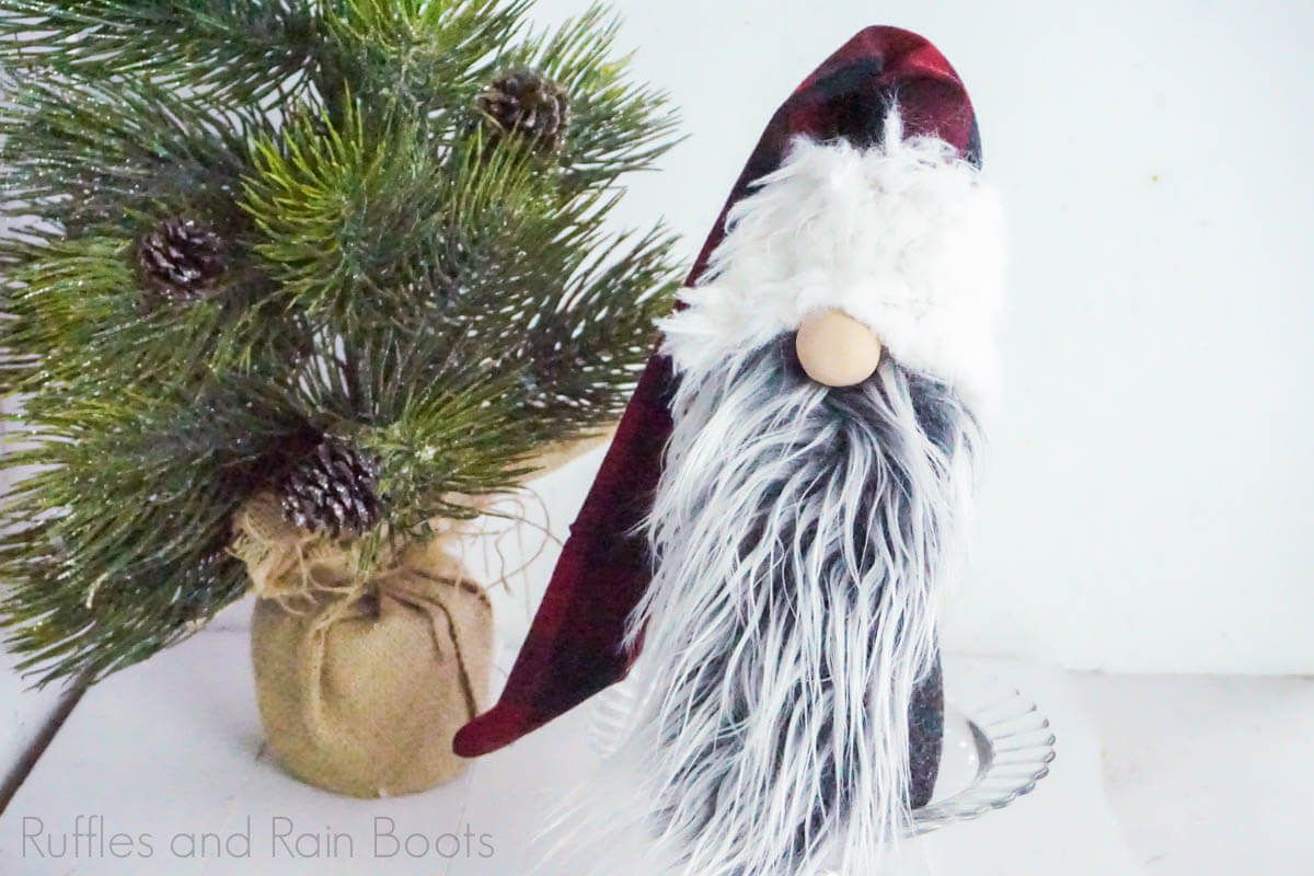 adorable Christmas gnome with interchangeable beards