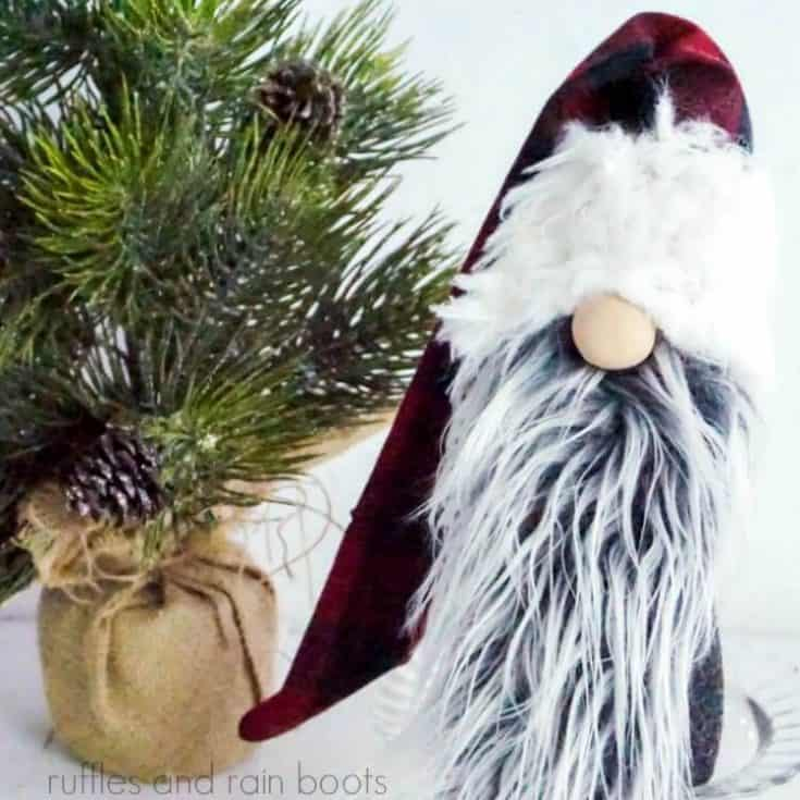 Fun Holiday Lumberjack Gnome with Two Beards S