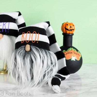 A Halloween Sock Gnome Tutorial with Free SVG Files in 20 Minutes!