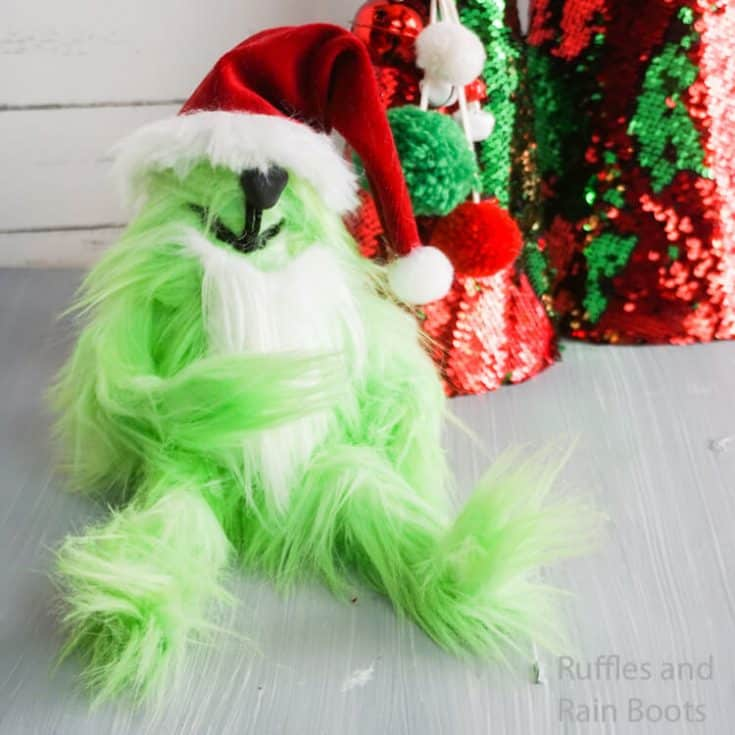 how to make a christmas grinch gnome