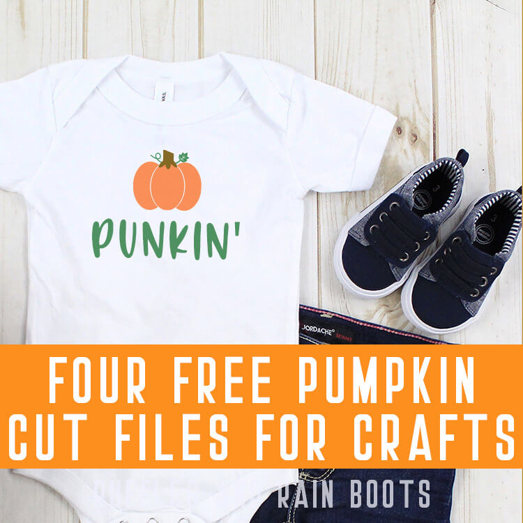 cute little pumpkin svg for fall on a baby onesie with jeans and shoes on a white background