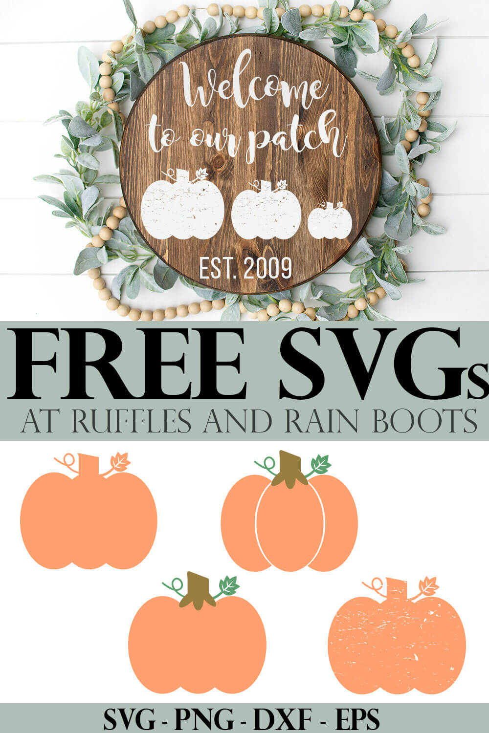 photo collage of Free Pumpkin SVG and Cut Files for Fall Crafting with text which reads free svgs