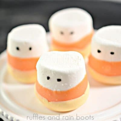 Candy Corn Marshmallows Are a Perfect Halloween Party Snack!