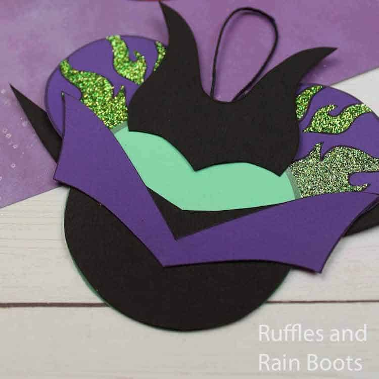 how to make maleficent ornaments for a disney cruise door decoration