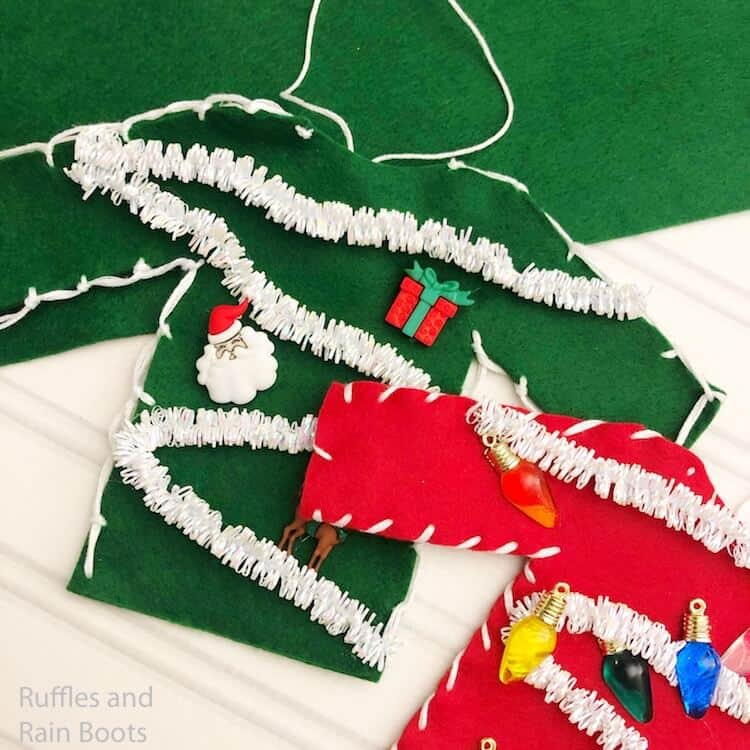 how to make christmas sweater ornaments