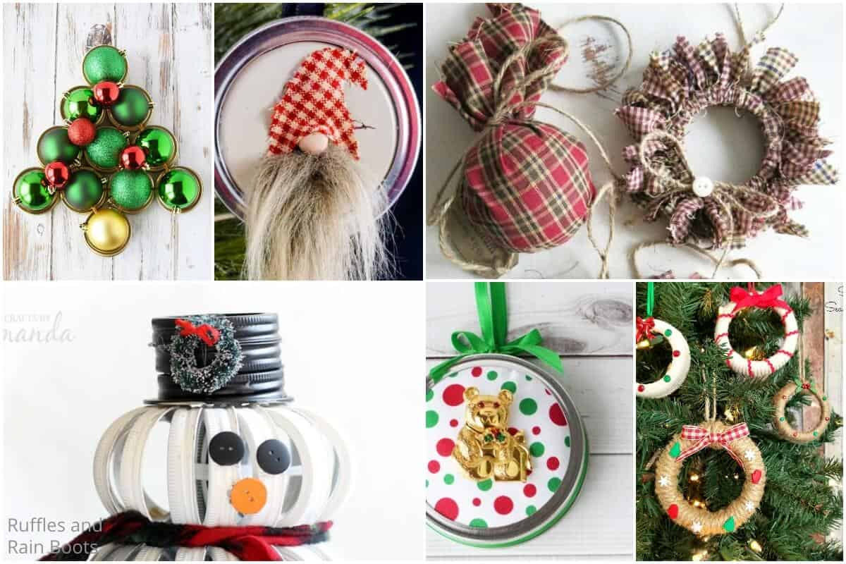 Diy Mason Jar Lid Christmas Crafts For Farmhouse Christmas Decor