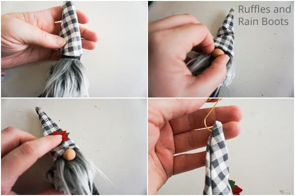how to make a gnome christmas ornament with a mitten