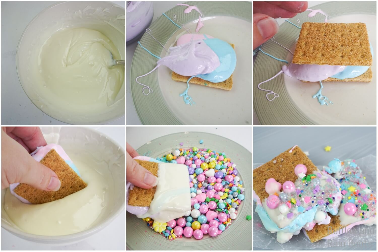how to make rainbow s'mores for a rainbow party