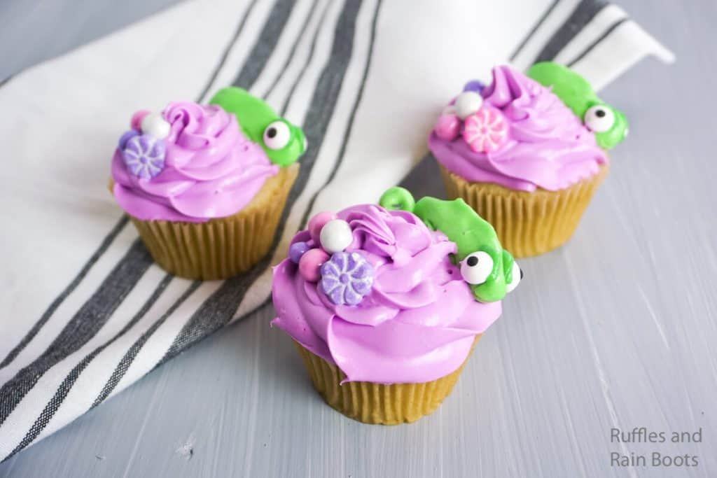 how to make cupcakes for rapunzel