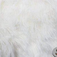 Faux/Fake Fur Mongolian Fabric Sold by The Yard (White)