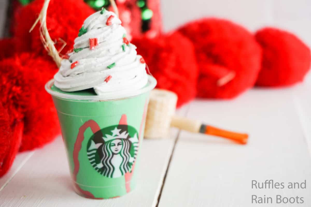 how to make a frappuccino drink ornament