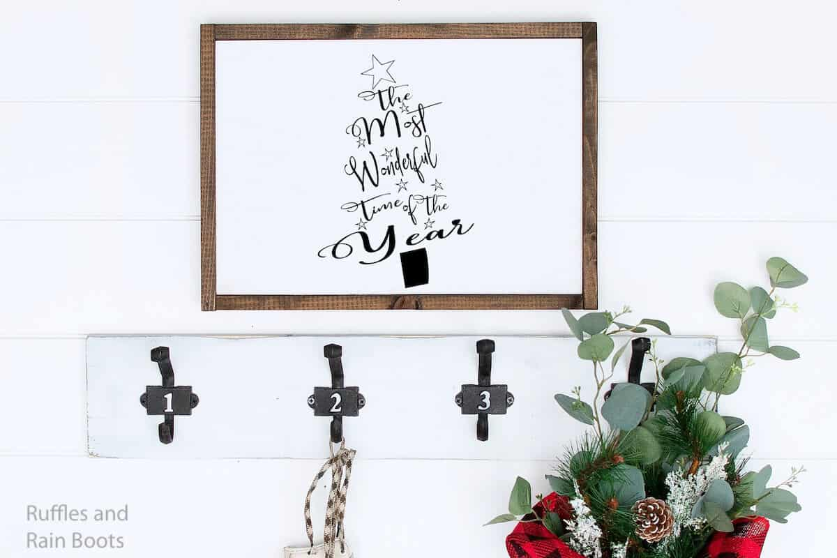 most wonderful time of the year holiday cut file wall art