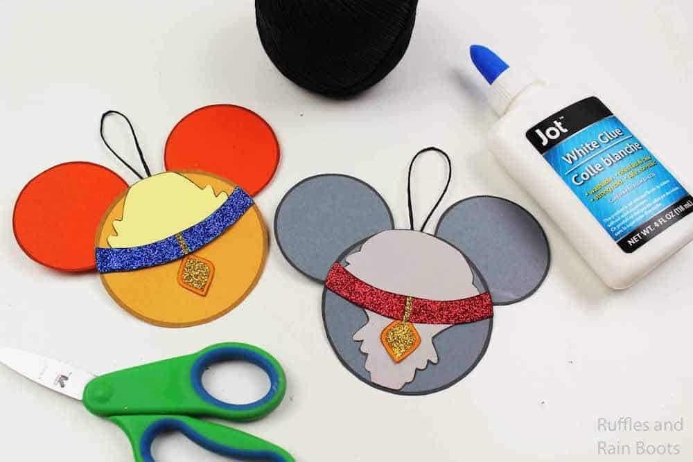 how to make mickey mouse ear ornaments