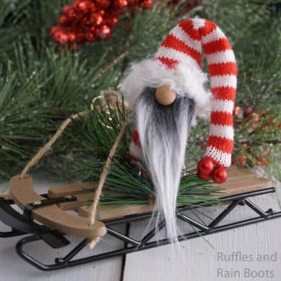 This Sledding Gnome Ornament is So Easy and Fun!