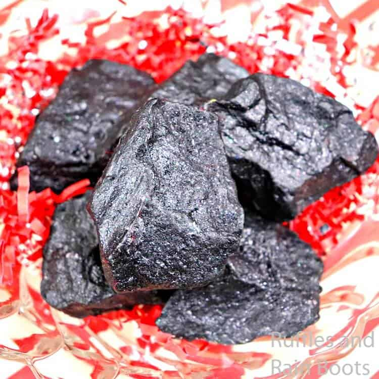 how to make lump of coal soap for a gift