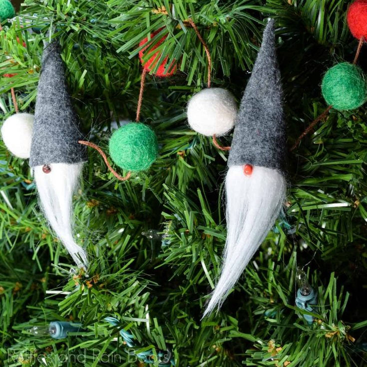 Gnome Garland Christmas Craft