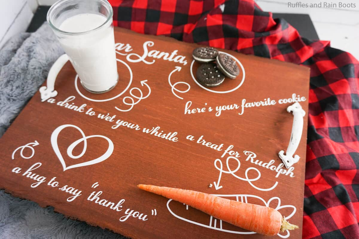how to make a cookie tray for santa