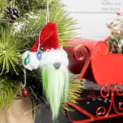 How to Make a Grinch Gnome Ornament in Minutes!