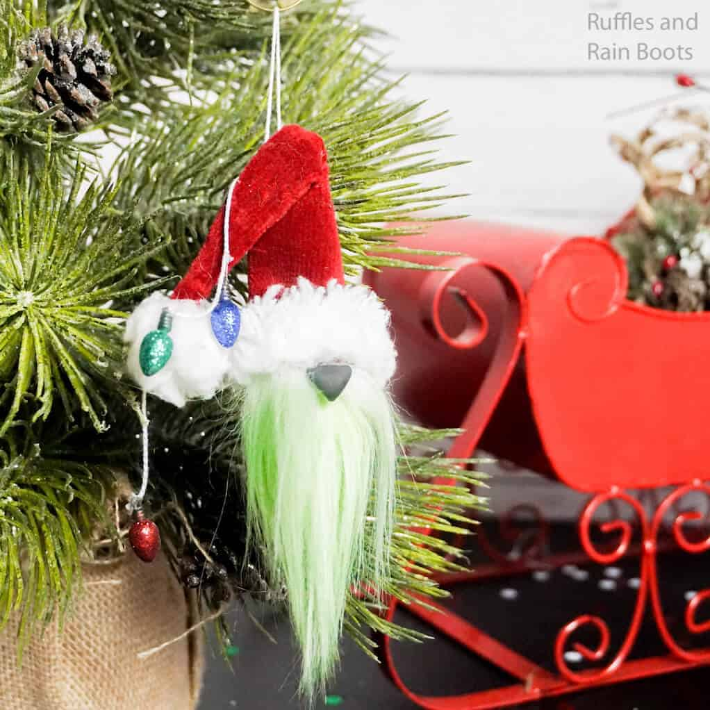 how to make a gnome ornament like the grinch