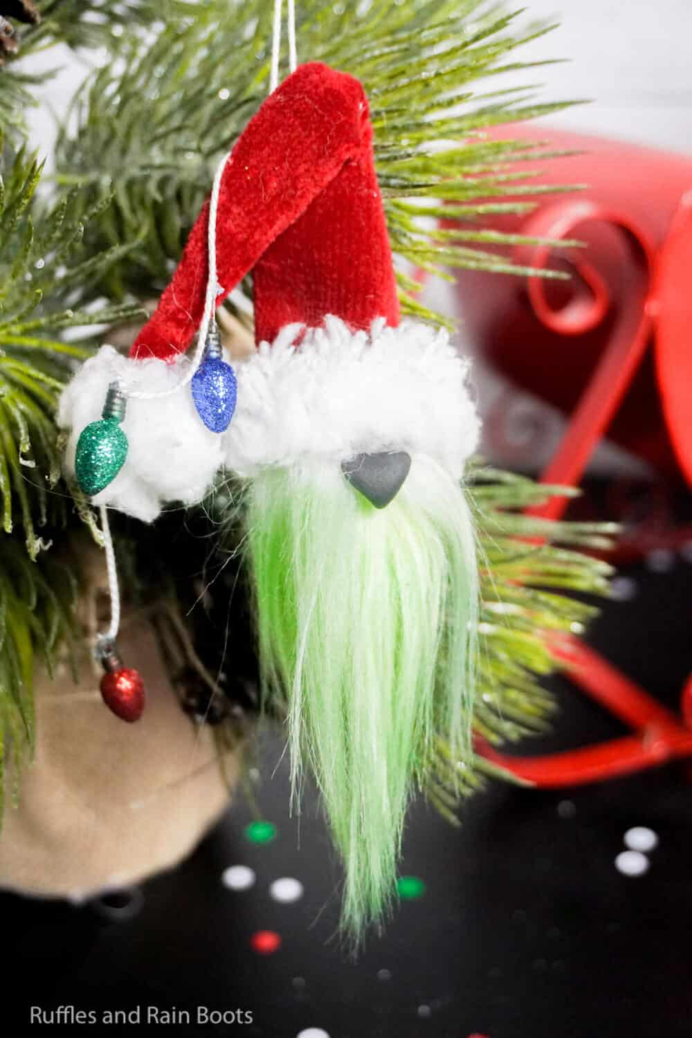 how to make a christmas grinch ornament