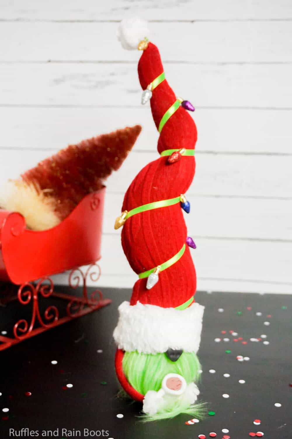 how to make a grinch gnome