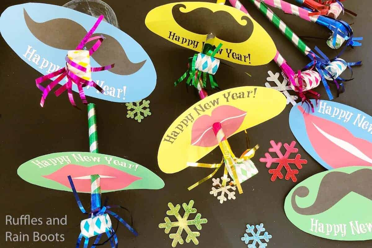 easy new years party blower kids craft idea