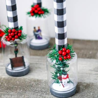 Make This Snow Globe Candle Dollar Store Craft in Minutes!