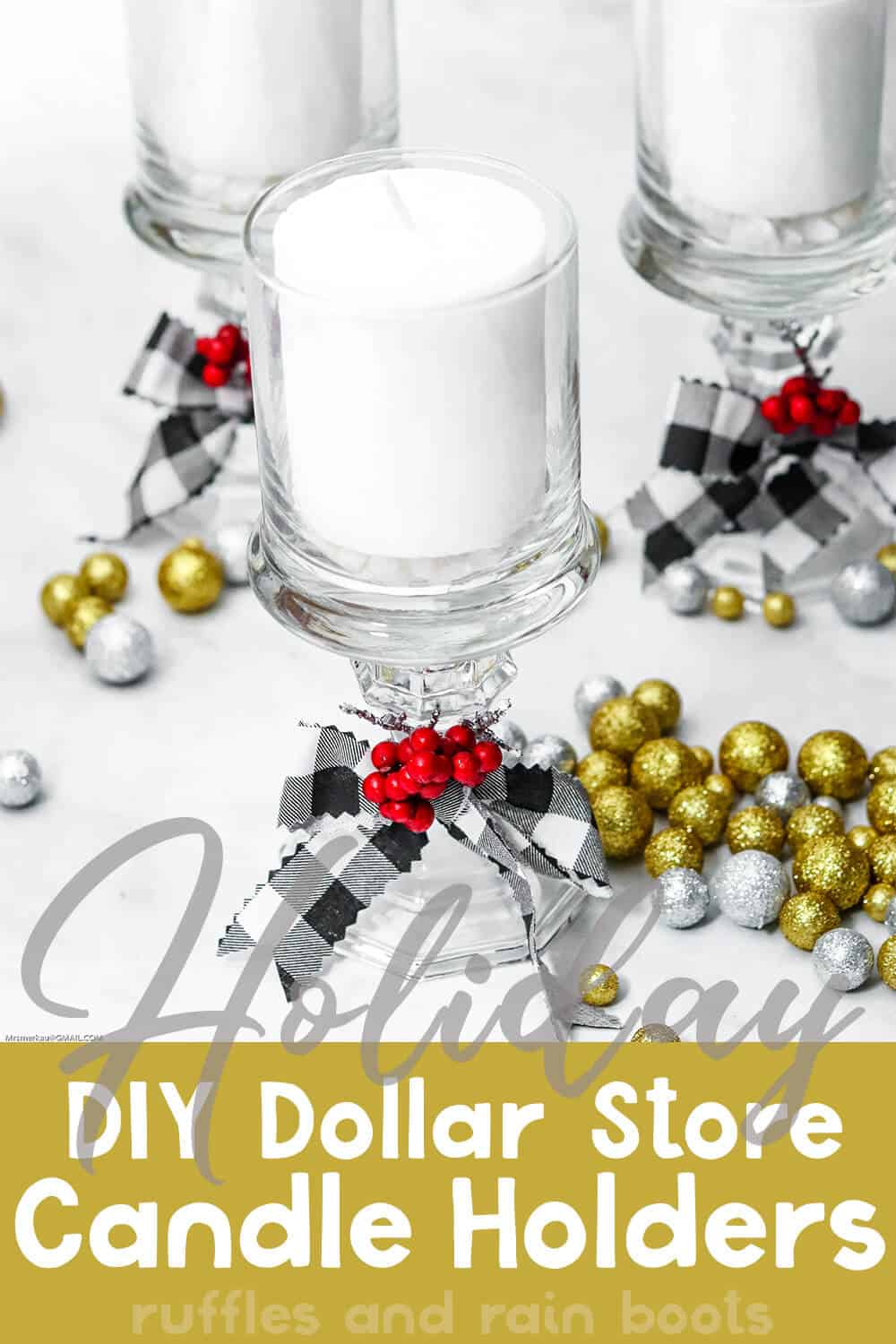 Easy Diy Dollar Store Candle Holder Upcycle Craft