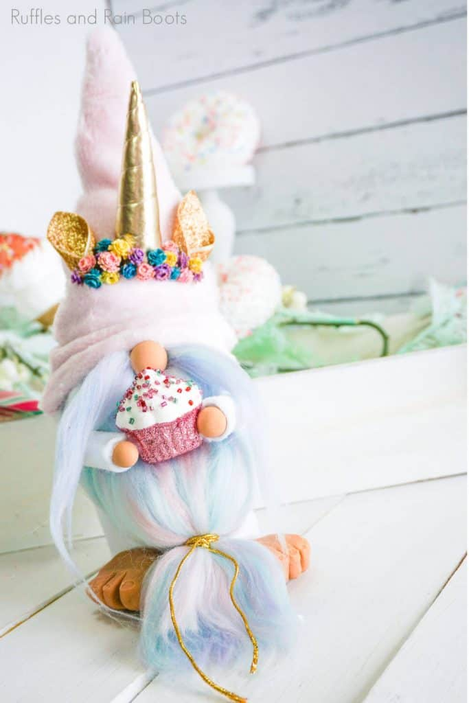 easy pattern for a unicorn gnome without sewing