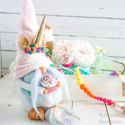 Make this Adorable Unicorn Gnome Pattern That's No-Sew and So Easy!