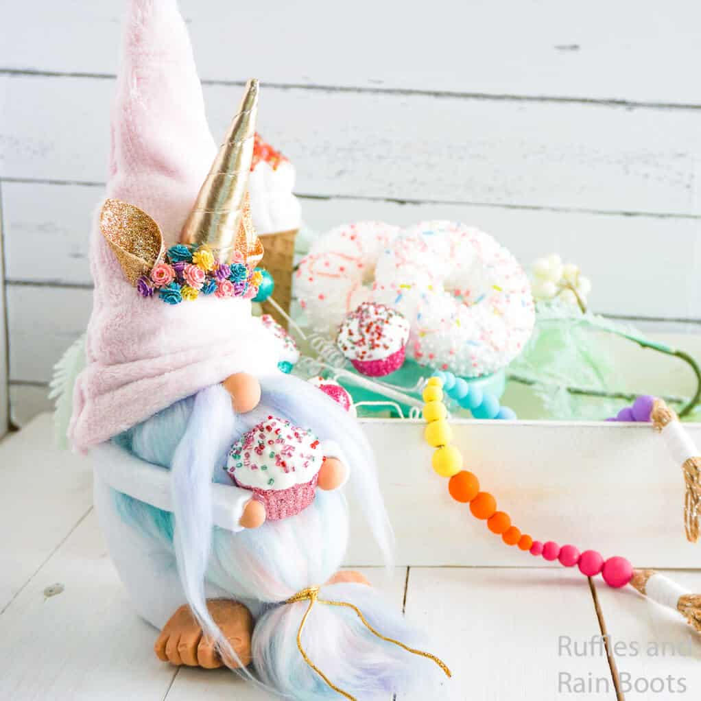 how to make a unicorn gnome without sewing