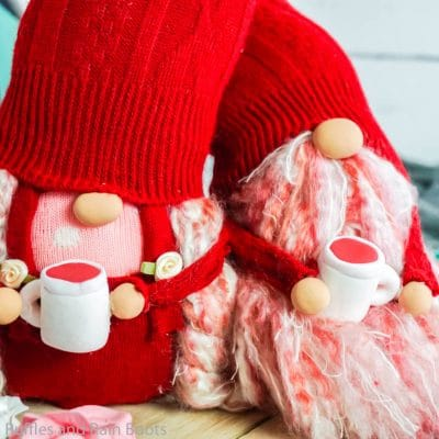How to Make a Valentine Gnome – Heart Sock Gnome Couple