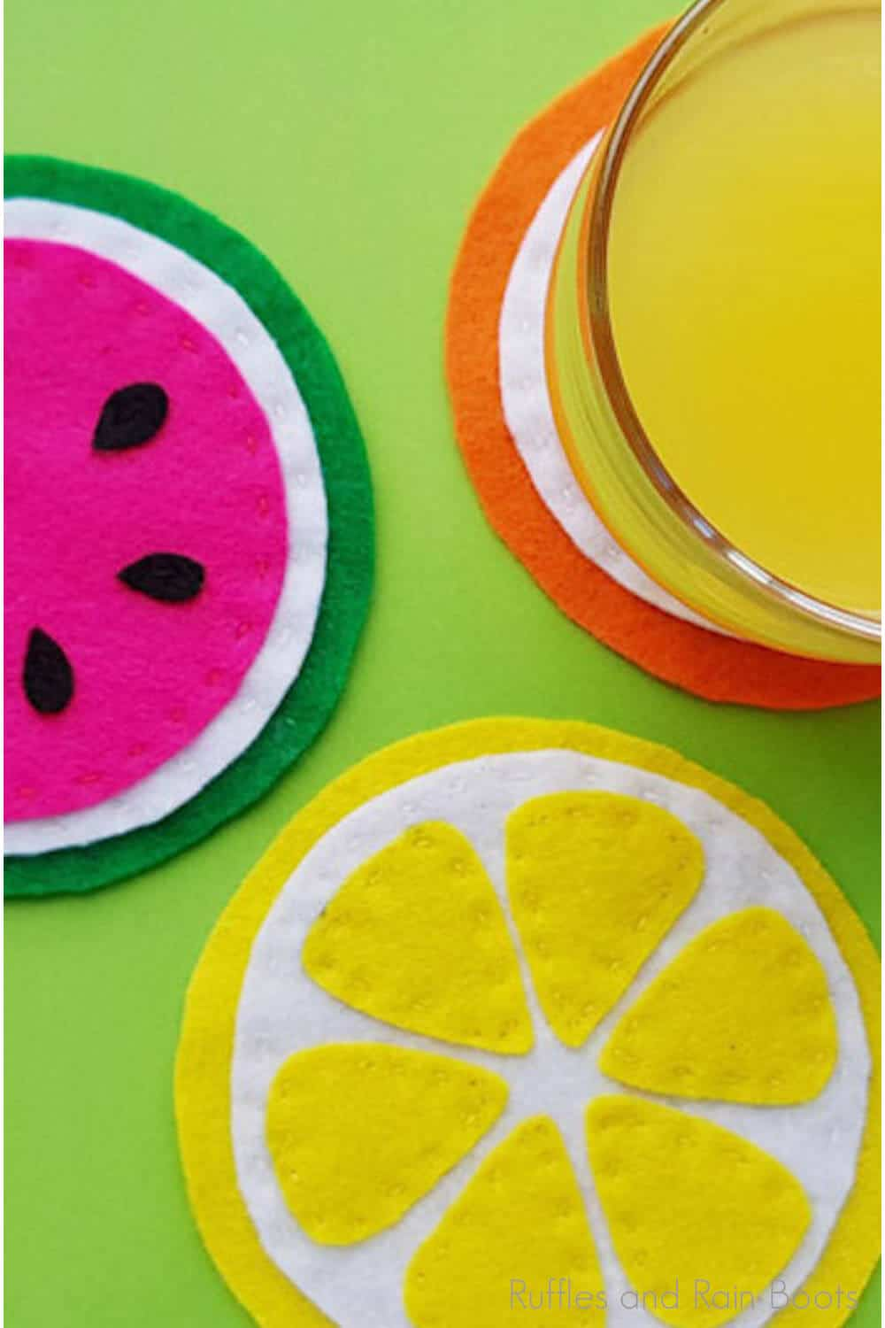 how to make coasters that look like slices of fruit