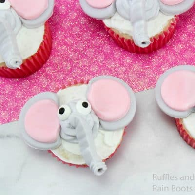 Easy Dumbo Cupcakes are Perfect for Dumbo Movie Watching!