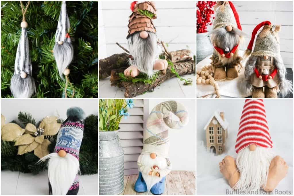 photo collage of gnome patterns