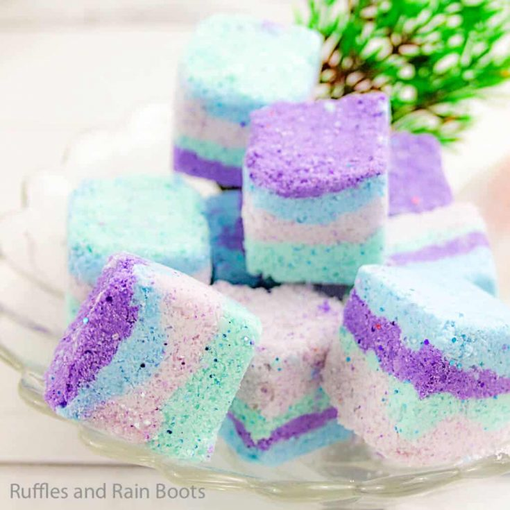 bath fizzies recipe with mermaid colors