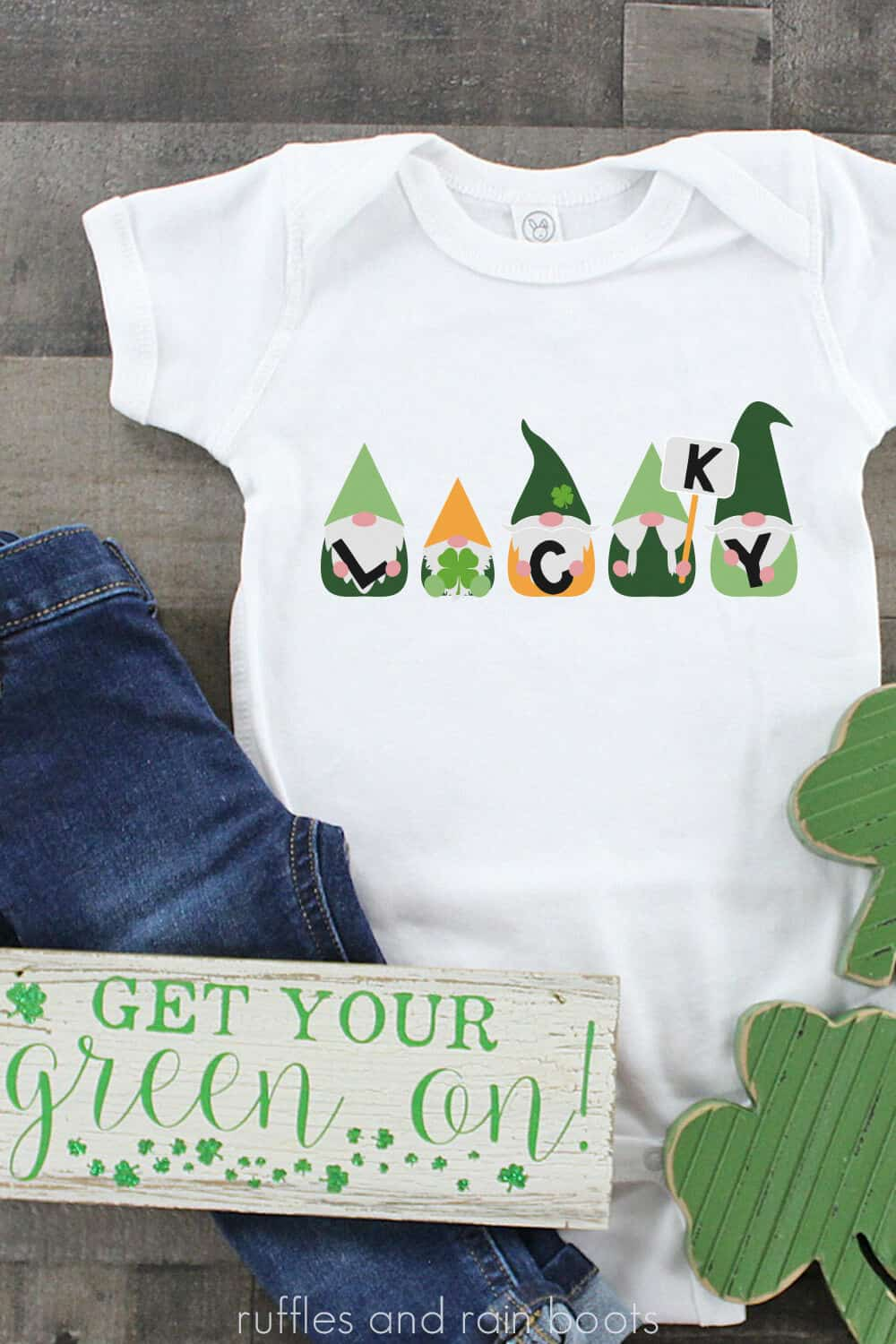 st patricks day gnomes svg for cricut and silhouette