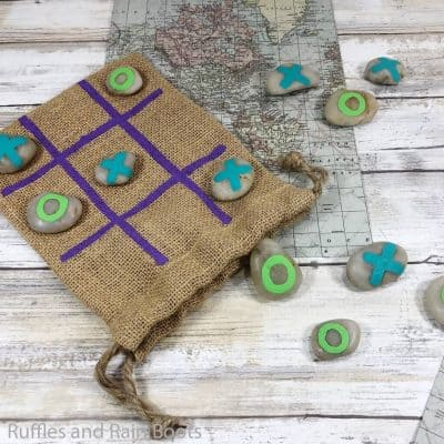 This DIY Tic Tac Toe Kids Activity is the Best Boredom Buster!