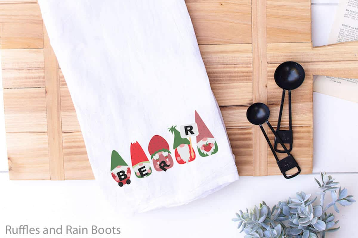 Strawberry Gnomes on a Towel