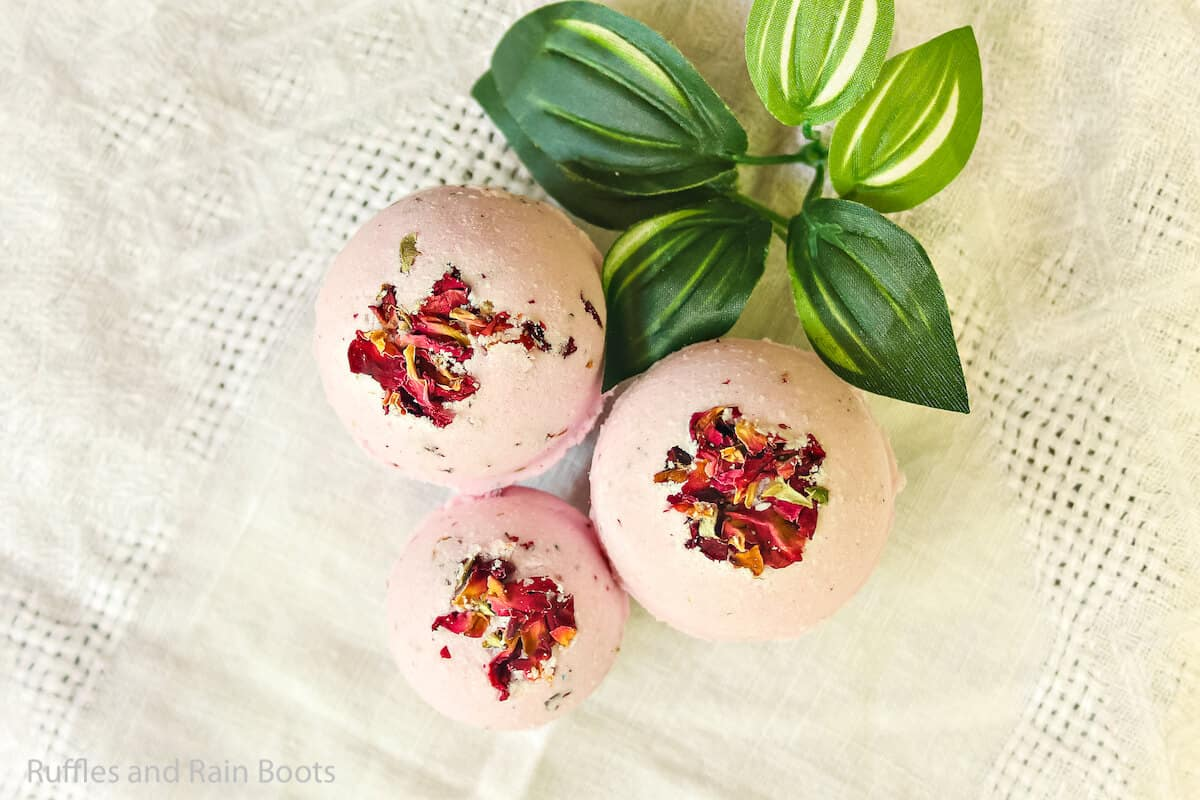 how to make bath fizzies with roses