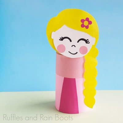 Rapunzel Toilet Paper Roll Craft