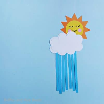 Easy Sun and Clouds Craft for Kids with Free Pattern!