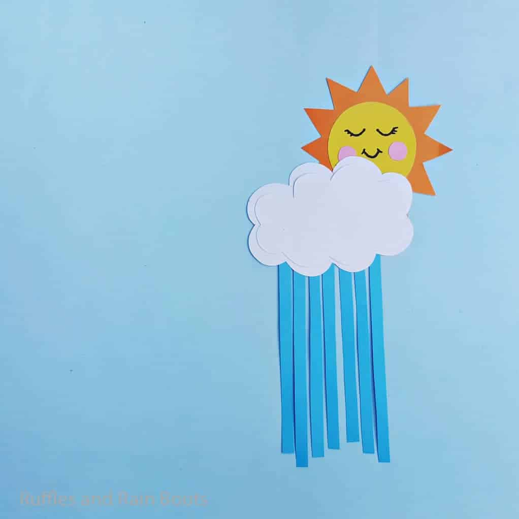 sun and cloud kid craft for spring