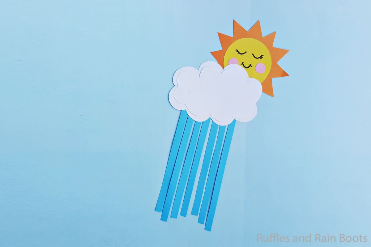 sun and cloud craft for kids