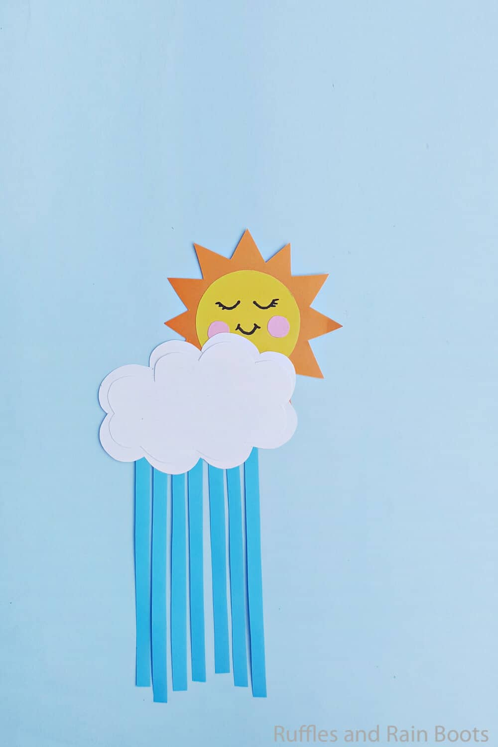fun kid craft for spring of sun and clouds