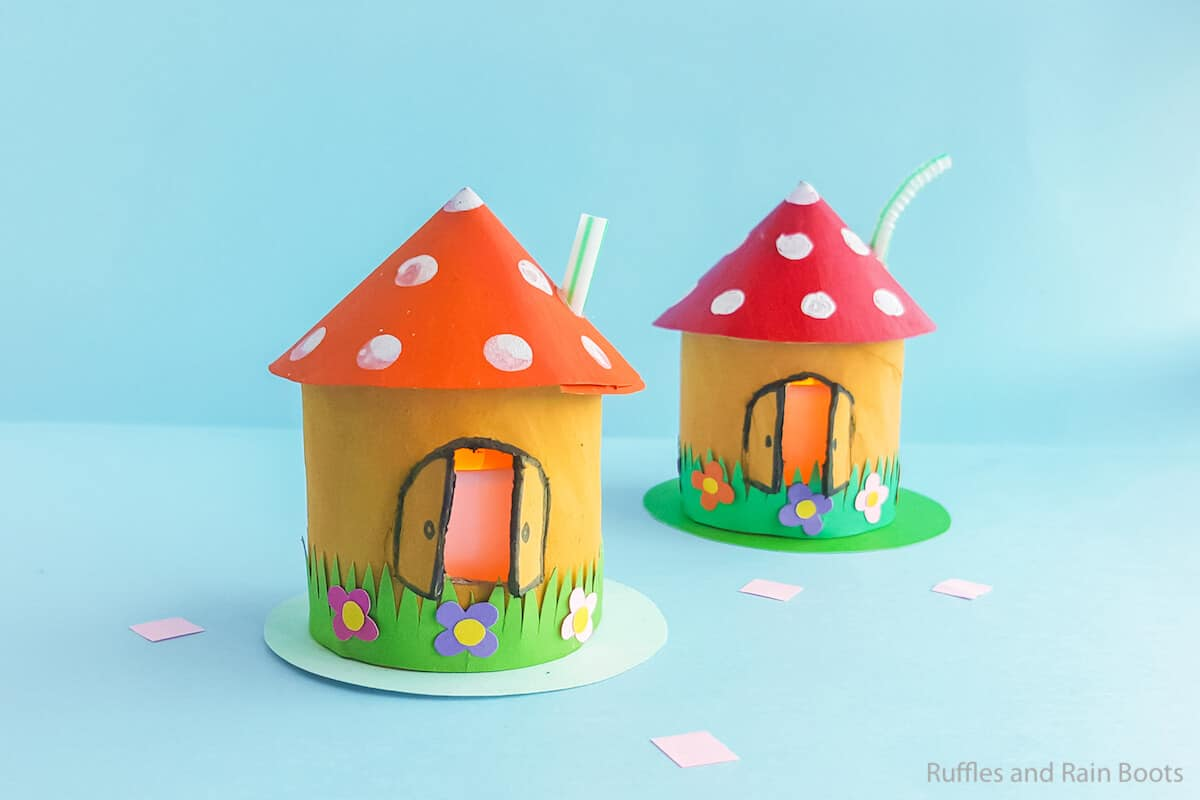 mushroom house craft for kids