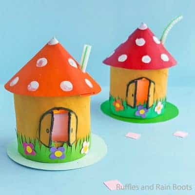 This Gnome Home Kid Craft is the Most Fun Fairy House!