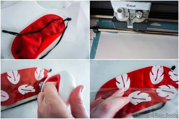 photo collage tutorial of how to make a lilo sleep mask